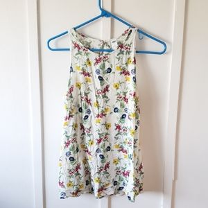 Old Navy Floral Sleeveless Tank Blouse Top S/M